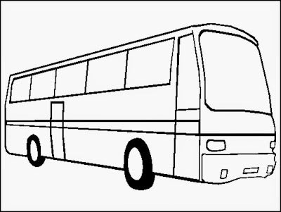 bus coloring book page