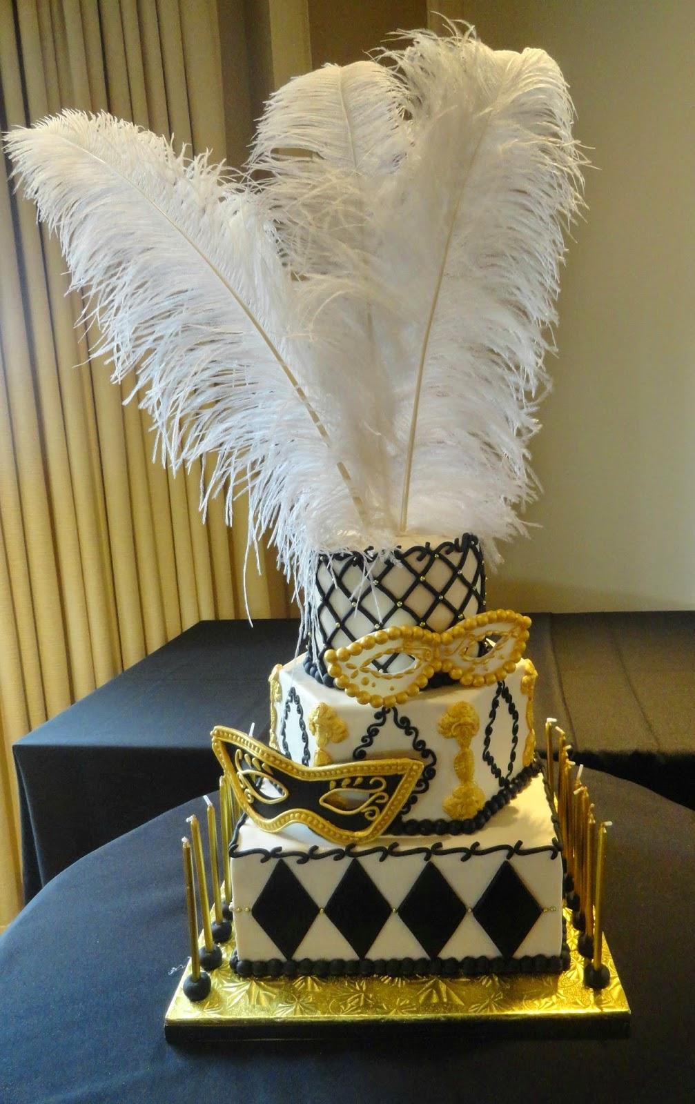 Pink Little Cake Masquerade Theme Sweet 16 Cake