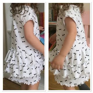klänning volanger barnkläder sy beställa unik småföretagare