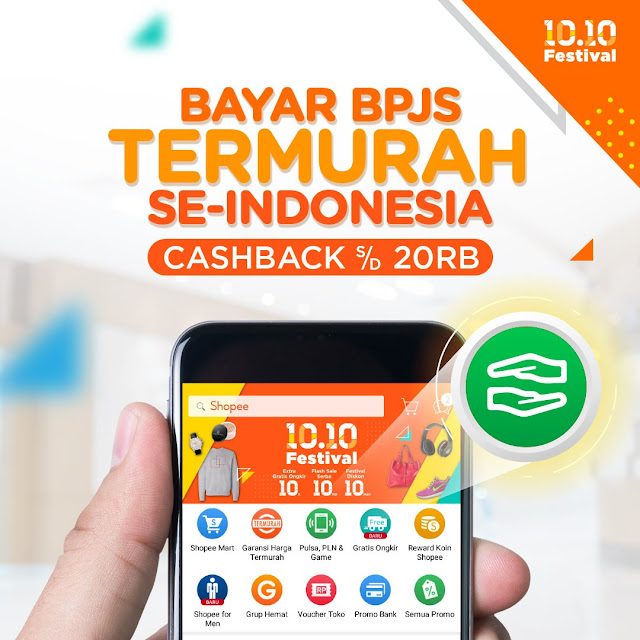 Shopee - Promo Bayar BPJS Termurah Se-Indonesia + Cashback s.d 20 Ribu
