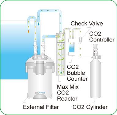 Cách sử dụng bộ trộn CO2 Max Mix cho hồ thủy sinh