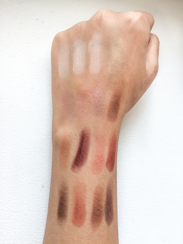 Nyx Ultimate Shadow Palette in Warm Neutrals Swatches