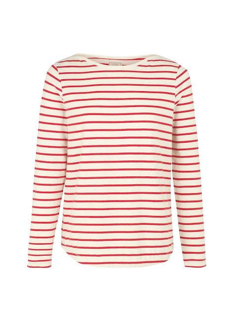 fat face organic breton stripe tee