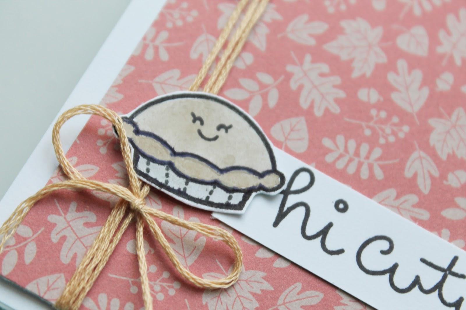 Hi, Cutie Pie - Happy Thanksgiving // Card Creations - Gray Florals