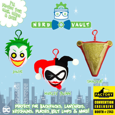 San Diego Comic-Con 2019 Exclusive DC Comics Nerd Vault Plush Accessories by Factory Entertainment