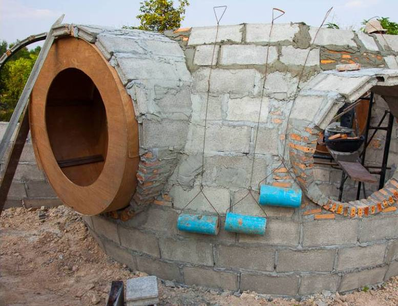 this dome house was built for p300k to p500k and here s how he build it bahay ofw