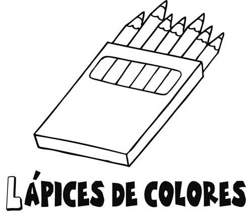 Dibujo De Caja Crayolas Para Colorear Imagui