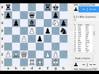 Hikaru Nakamura vs Fabiano Caruana (A18 English Opening St Louis Blitz 2016 (1)) 1-0