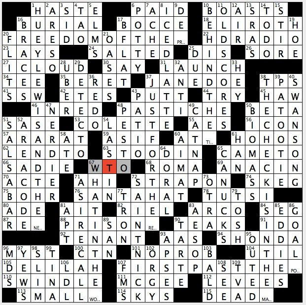 Rex Parker Does the NYT Crossword Puzzle: Surfboard stabilizer ...