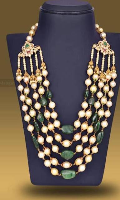 Beads necklaces by Mangatrai Neeraj