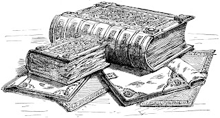 Drawing of the Domesday book by Andrews, William Released in the public domain, via Wikimedia Commons