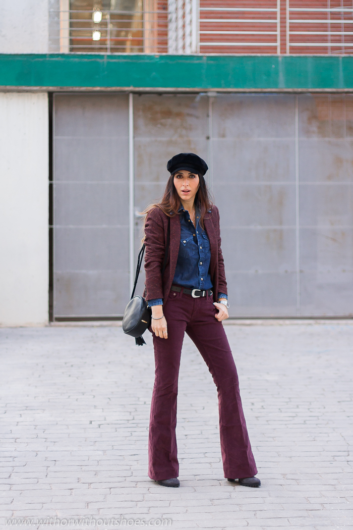 Influencer blogger valenciana con outfit los jeans pantalones de pana que mejor sientan Meltin' Pot