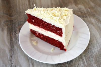 Red Velvet Cheesecake Cake #cake
