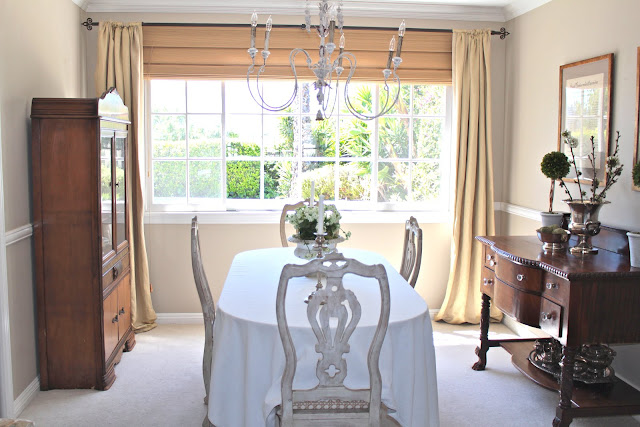 spring-tour-dining-room-chandelier french country style neutral decor
