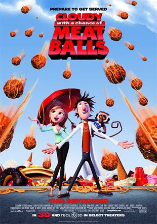 Cloudy with a Chance of Meatballs 2009 BRRip 720p Dual Audio In Hindi English