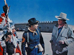 John Wayne confronts an Indian in Chisum 1970 movieloversreviews.filminspector.com