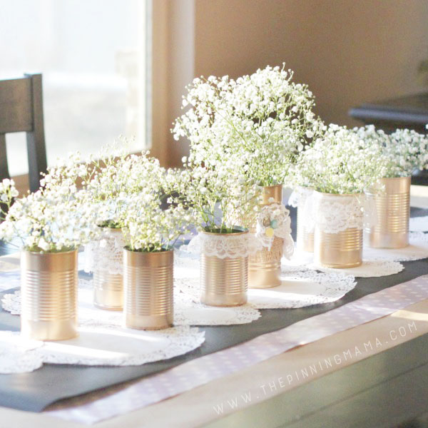 http://www.thepinningmama.com/diy-shabby-chic-tin-can-lace-centerpiece/