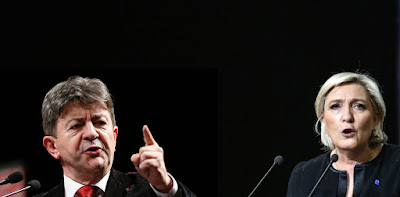 Jean-Luc Mélenchon and Marine Le Pen