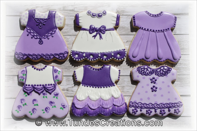 Baby girl dress cookies decorated by Tunde Dugantsi