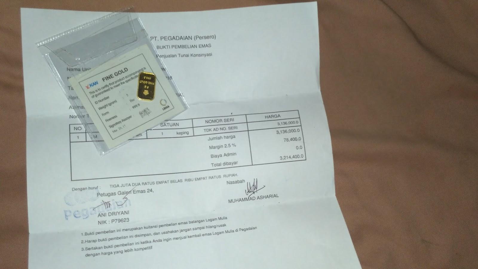 Pengalaman Membeli Emas Batangan 5 Gram Tulisan Online