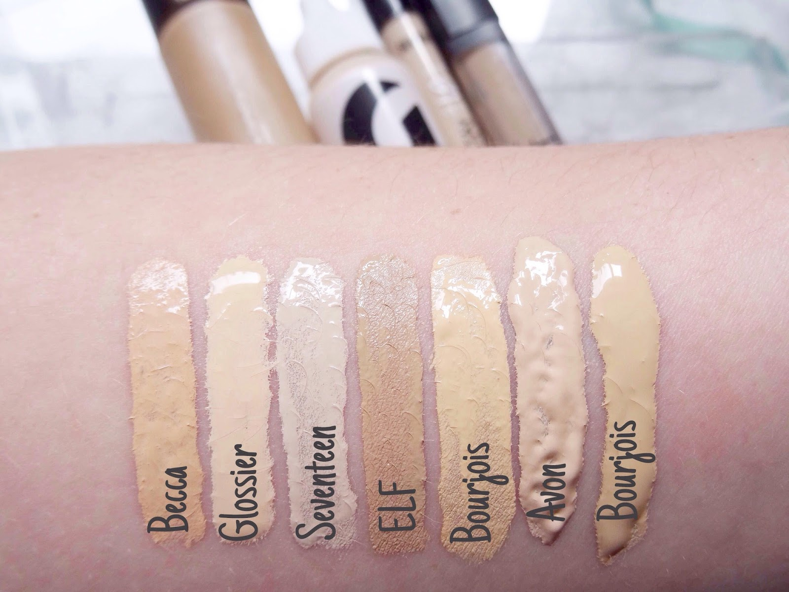 Makeup Collection Series / #2 Foundations&Concealers Swatches