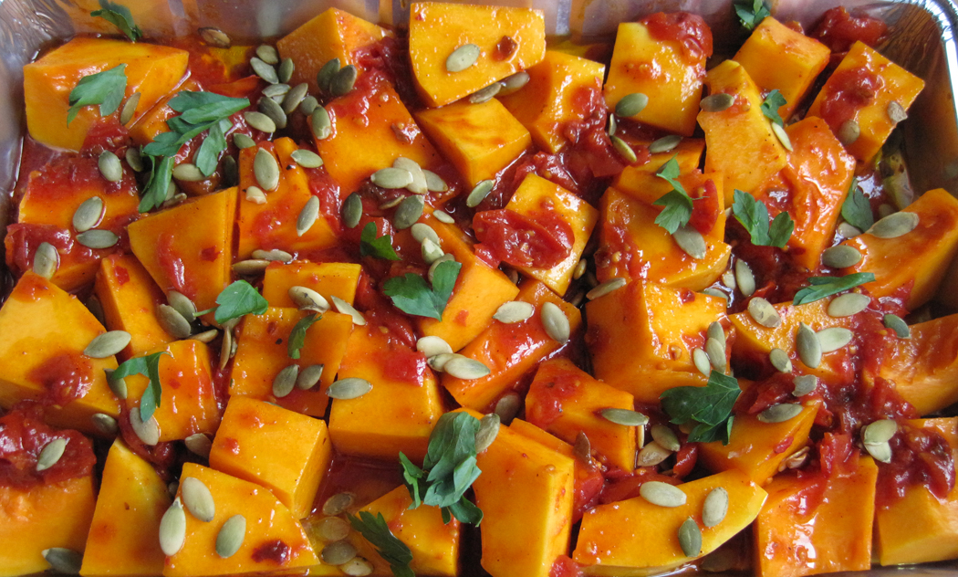 Ready to Cook Moroccan Style Butternut with Spiced Tomatoes and Feta