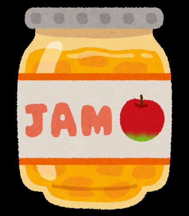 りんごジャム 文字