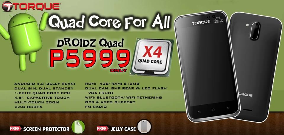 Torque Mobile Quad core phone Droidz Quad price and specs