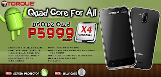 Torque Mobile Quad core phone Droidz Quad price and specs