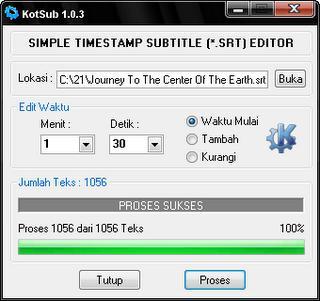 Kumpulan Software Edit Subtitle Film Agar Tepat Timing | Download Gratis