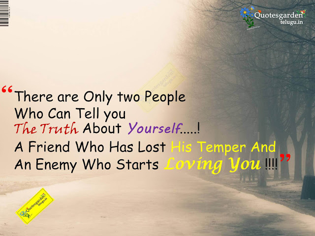 Latest quotes about life - Friend and enemy quotations - Best inspirational quotes to know who are you