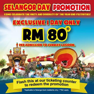 Sunway Lagoon's Selangor Day promotion Facebook