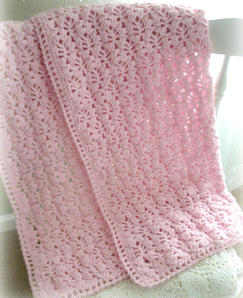 Pretty Lacy Stitch for a Baby Blanket - Free Pattern