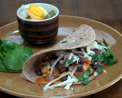 Zucchini Mushroom Tacos, another Meatless Monday or Taco Tuesday idea ♥ A Veggie Venture, easy to adapt with what's on hand or just what sounds good. Weight Watchers Friendly.