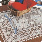 "Tapete ""Mascotas Juguetonas"" a Crochet"