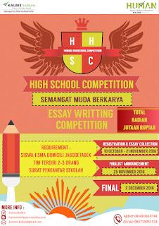 Lomba Menulis Esai - HUMAN High School Competition (HHSC) Kalbis Institute