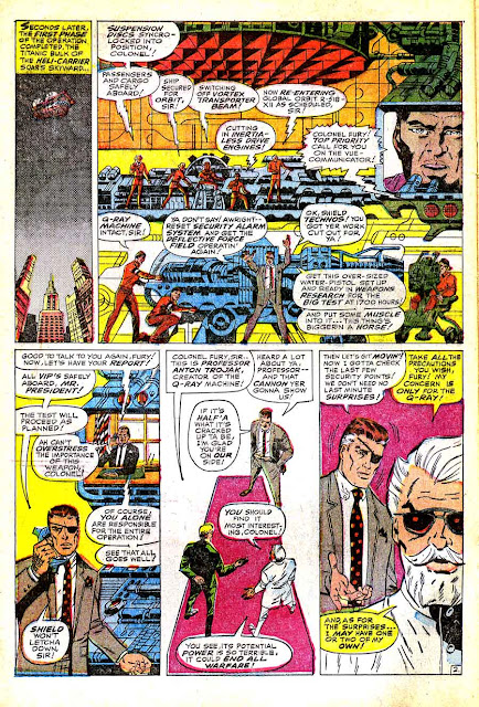 Strange Tales v1 #155 nick fury shield comic book page art by Jim Steranko