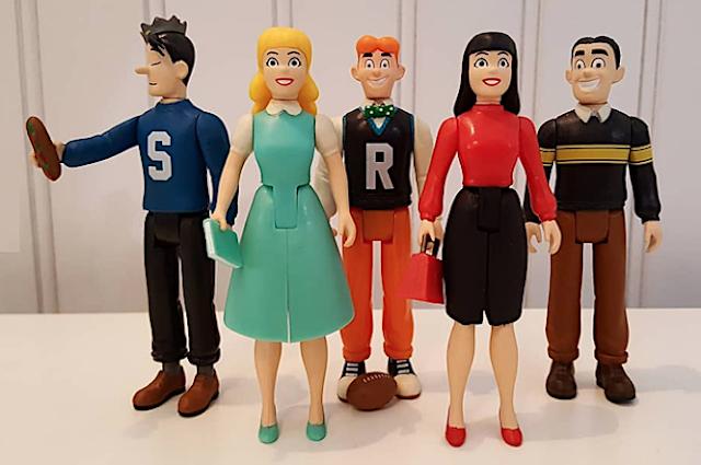Archie Comics ReAction Action Figure Set Of 5 Reggie Jughead Betty Veronica