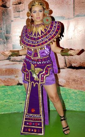 Foto de Marisol Muguerza con traje inca