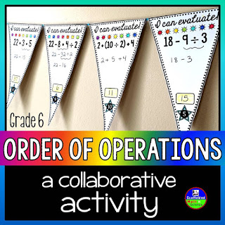 Order of Operations Math Pennant {FREE for younger kids}