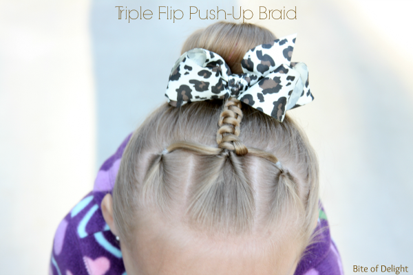 Triple Flip Push-Up Braid | Hair Tutorial | Little Girl Hairstyles