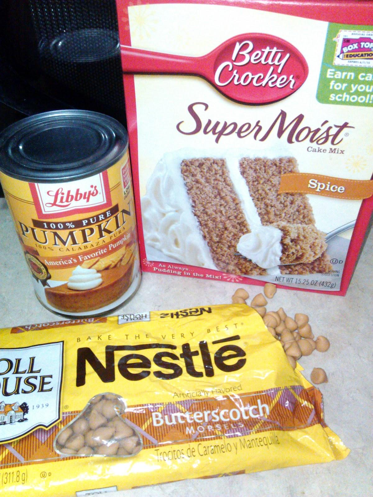 Pumpkin Butterscotch Muffins Cake Mix