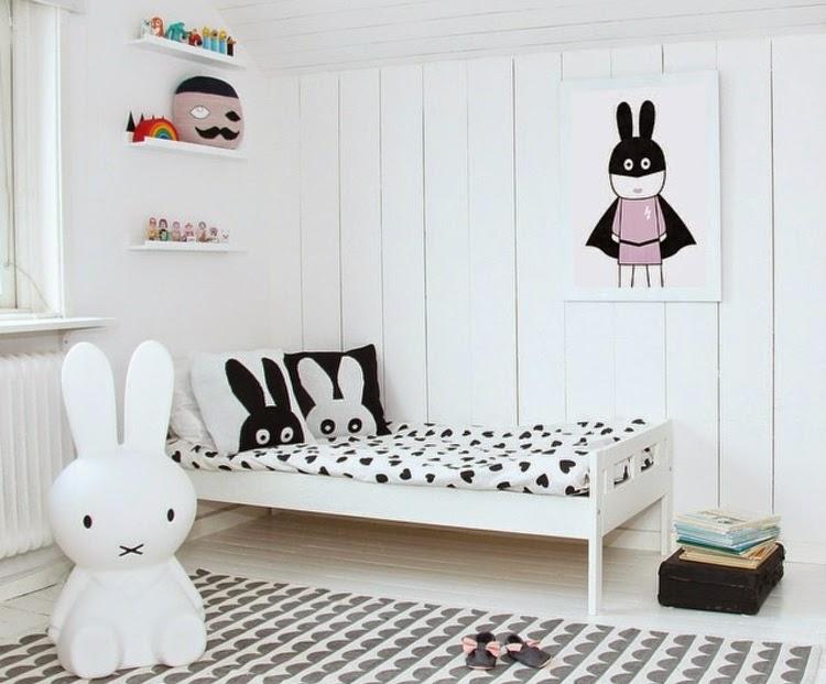 Dormitorio infantil tema conejos