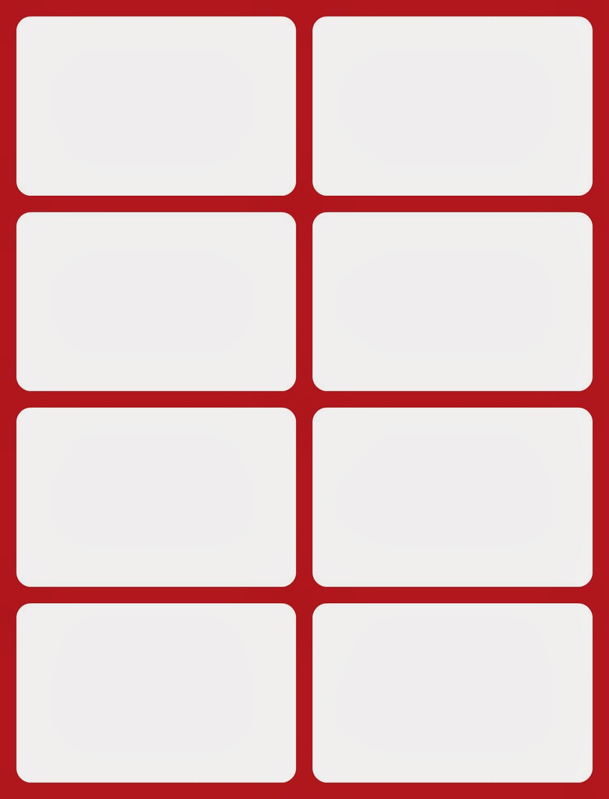 punch card template microsoft word