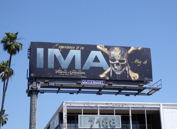 Pirates Caribbean Dead Men IMAX billboard