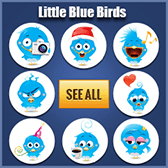 Blue Birds Icons