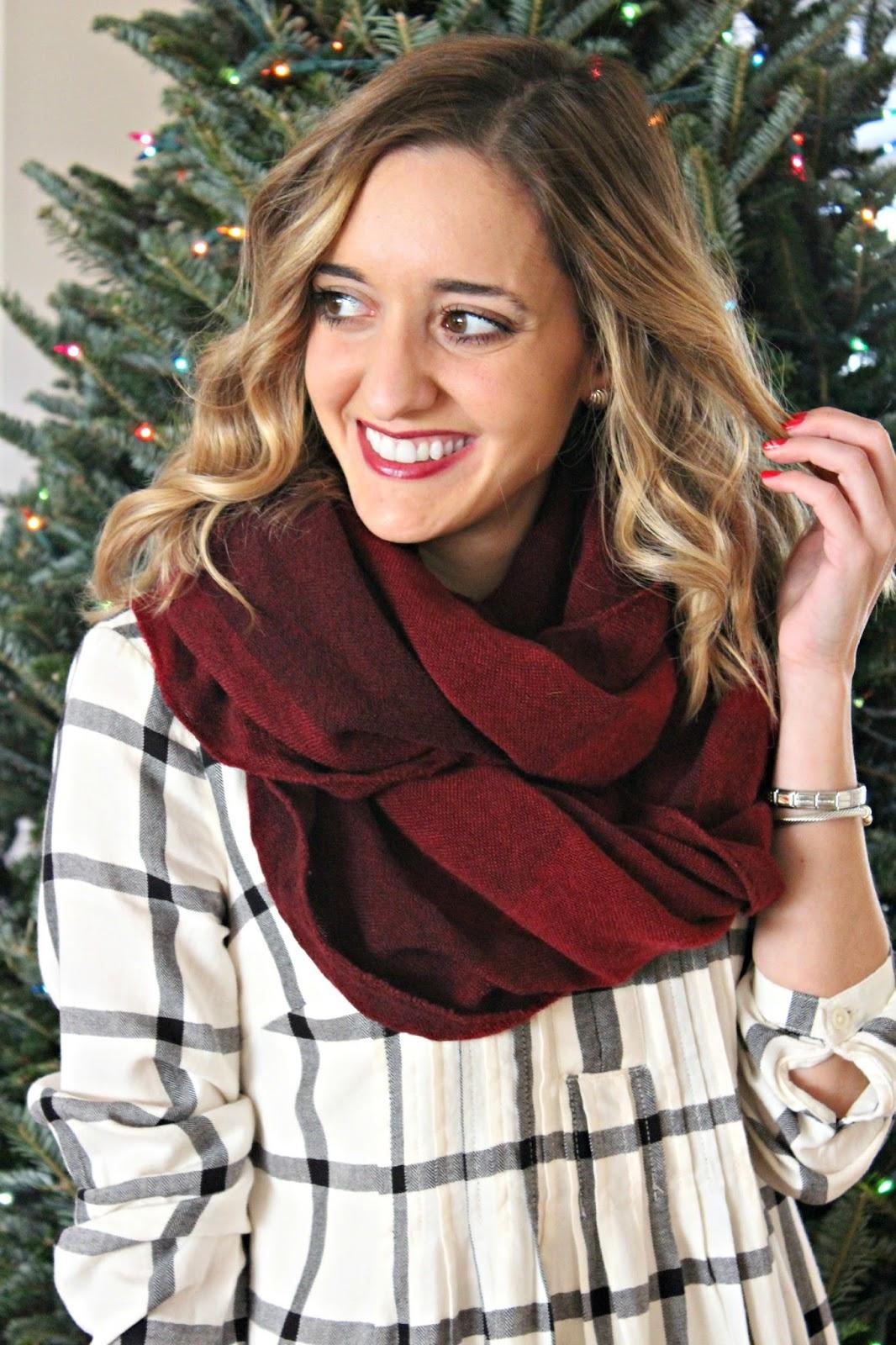 old navy burgundy scarf