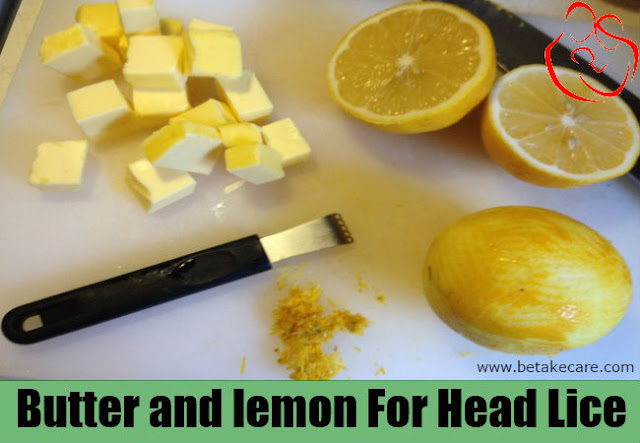 Butter and Lemon for Head Lice