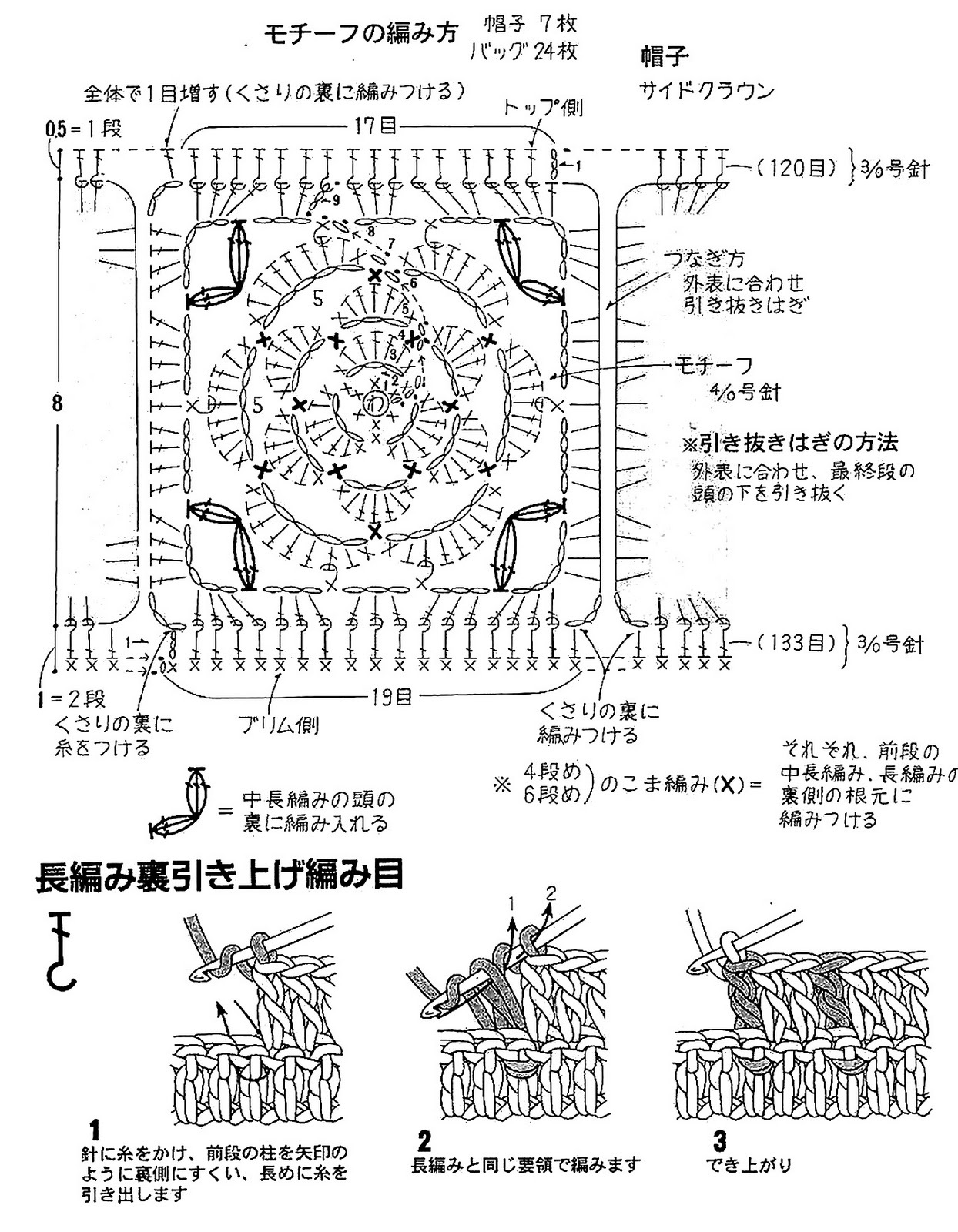 Ergahandmade Crochet Bag And Hat Diagrams
