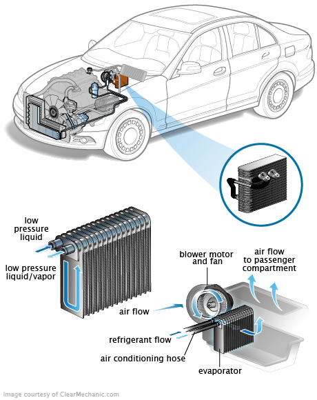 clean car evaporator coil  removing